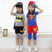 格安!!90-100-110-120-130セット★ベビー★幼児★スーパーマン★バットマン★マント+Tシャツ+ズボン