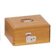 コレクト 印箱(錠付)木製 中 AK-3 4列3段