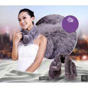 ☆絶賛販売中☆高級なファーマフラー/ウサギの毛を使用したレディース襟巻き/◆防寒性抜群/ファッショナ