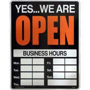 看板/プラスチックサインボード(Lサイズ) オープン/クローズ(時間記入可/両面プリント) Open/Closed CA-L06