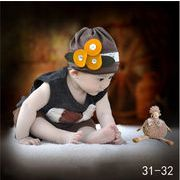 格安☆撮影写真★0-1歳★幼児★花★犬★タンクトップ★帽子+チョッキ+半ズボン★セット