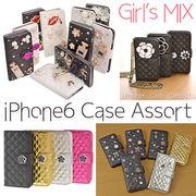 【特価】【iPhone6対応携帯ケース】iPhone6デコケース アソートセット カメリア デコ カバー