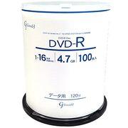 Good-J DVD-R データ&ビデオ対応(4.7GB/120min) 1-16倍速  100枚 GJD47-16X100PW