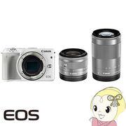 Canon �~���[���X���t�J���� EOS M3 �_�u���Y�[���L�b�g2 [�z���C�g]