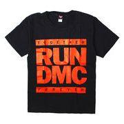 ロックTシャツ RUN DMC レッドカラーロゴ Together Forever