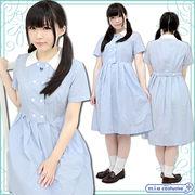 ■送料無料■神戸山手女子高等学校 盛夏服ワンピース サイズ:M/BIG 色:水色