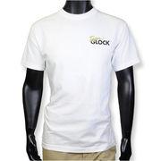 TEAM GLOCK Tシャツ 半袖 ロゴ入り ホワイト