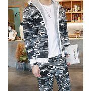メンズファッション【大きいサイズ有】スポーツスーツ◆グレー/グリーン2色○mi4-hzx317-b92