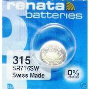 RENATA 315 SR716SW 0%Mercury