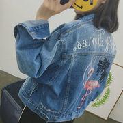 レディースファッション★お買得★定番アイテム  刺繍 ジージャン ジャケット  jr-baby2049