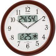 【アウトレット品】シチズン電波掛時計「ネムリーナカレンダーM01」4FYA01-006