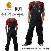 Carhartt(カーハート )R01 ダック ビブ  オーバーオール ブラック 大きいサイズあり