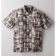 【代引不可】 パッチワークマドラスチェックシャツ カジュアルシャツ
