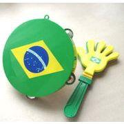 【サッカー応援♪】ブラジル・タンバリン&片手でパチパチ・ハンド