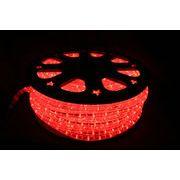 【レッド・赤】LEDチューブライト(ロープライト)2芯タイプ/100m/直径10mm/3000球