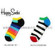 【ハッピーソックス】ストライプ ロー(アンクル) 全4色 メンズ&レディース
