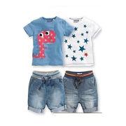 格安!!2T-3T-4T-5T-6T-7Tセット★ベビー★幼児★ボーダー★スター★デニム★ジーンズ★Tシャツ+ズボン