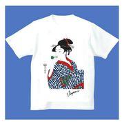FJK 日本 お土産 Tシャツ 浮世絵 Sサイズ (ホワイト)No.17-S
