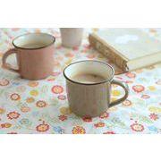 おとな色・小さめホーローみたいなマグカップ いわいちゃ[H61][美濃焼]