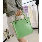 韓国ファッション/飴色のビッグバッグ/年新作/切り替えショルダーバッグ/おしゃれな手提げバッグ/