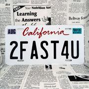 好きな文字にできるアメリカナンバープレート(大・US車用サイズ)カリフォルニア