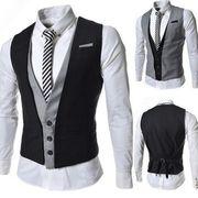 男性ベスト礼服  スーツベスト  結婚式イベント  紳士シングル通勤メンズ  ファッション  細身カジュアル