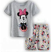 パジャマ半袖&短パン(ミニーマウス)90cm~130cm 春夏 薄手綿100%