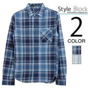 インディゴチェックシャツ/sb-550482