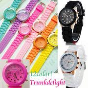 12color!ビビットカラー腕時計 【メール便可】