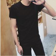 Tシャツ メンズ ストレッチ カットソー 半袖 無地 Vネック トップス コーデ 春 夏 秋 メンズファッション