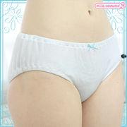 ■送料無料■綿パンツ単品 (ロリパン) ブルーリボン サイズ:M/BIG 色:白●貧乳・AA