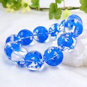 手彫り〈藍龍〉水晶(18mm)ブレスレット