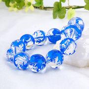 手彫り〈藍龍〉水晶(16mm)ブレスレット