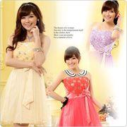 パーティードレス 結婚式ドレス バラ リボン ドレス大きいサイズあり