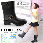 エンジニアレインブーツ【即納】雨靴長靴ミドルレインシューズ