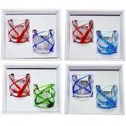 【感謝をこめて沖縄伝統工芸品を贈ります】涼風ロックグラス2個ギフトセット
