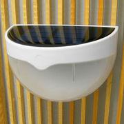 壁掛け式ソーラーLEDライト★とってもおしゃれ★ポーチ、足元の明るさ確保に。