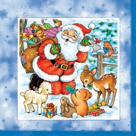Daisy  ペーパーナプキン クリスマス サンタ×動物
