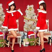 クリスマスイベントに!帽子付きサンタ衣装セット!