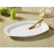 【強化】 楕円皿 ( 12号)   おうちカフェ/カレー皿/パスタ皿/白食器