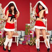 即納 クリスマスココスプレ衣装!セクシーサンタセット!SU-18-D10