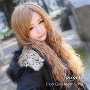【ユニガール】少なめピンクメッシュ☆ブロンディア『クールガーリーメッシュロング』