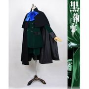 【LUGANO】黒執事 シエル・ファントムハイム 外出礼服マント付きコスプレ衣装  完全オーダーメイド 対応