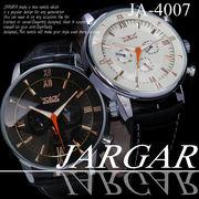 【ケース・保証書付】◆腕時計 自動巻 メタルバンド 24針 DAY&DATE 曜日 日付◇JA-4007