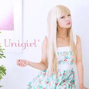 【ユニガール】近未来型2トーンウィッグ☆ブロンディア『ストレートスプリット』