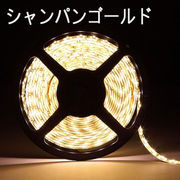 LEDテープライト/5050型チップ/シャンパンゴルード/5M/300発/IP44防水