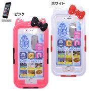 【お買い得】【Z】ハローキティ アイフォン6防水ケース/ホワイト/ピンク