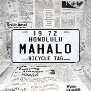 好きな文字にできるアメリカナンバープレート(大・US車用サイズ)ハワイ・自転車タグ-白