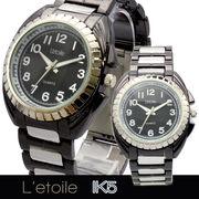 【L'etoile】ミディアムフェイス メンズ 腕時計 IK5