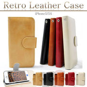 【iPhone6/4.7インチ】RETRO Leather Diary Caseレトロレザーダイアリーケース